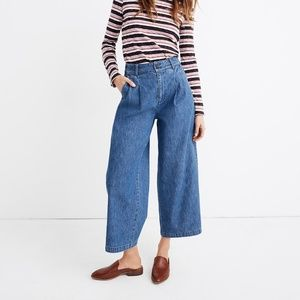 Madewell Pleated Wide Leg Jeans